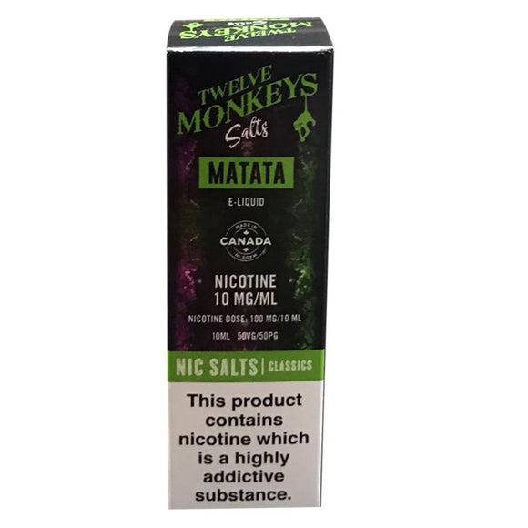 Twelve Monkeys Nic Salts - Matata