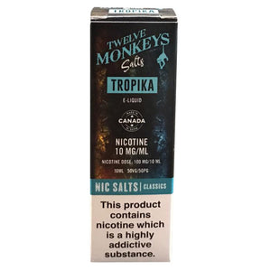 Twelve Monkeys Nic Salts - Tropika E Liquid-Fogfathers