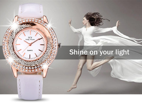 Crystal Rhinestones Woman's Watch Plus Bonus FREE Gift for Limited Time