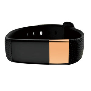 Premium Bluetooth Fitness Tracker - Smart Bracelet - Heart Rate Monitor - Silver or Gold