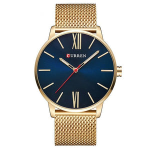 Blue-Gold CURREN Watch - Luxury Watches Shop