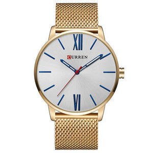Gold-White CURREN Watch - Luxury Watches Shop