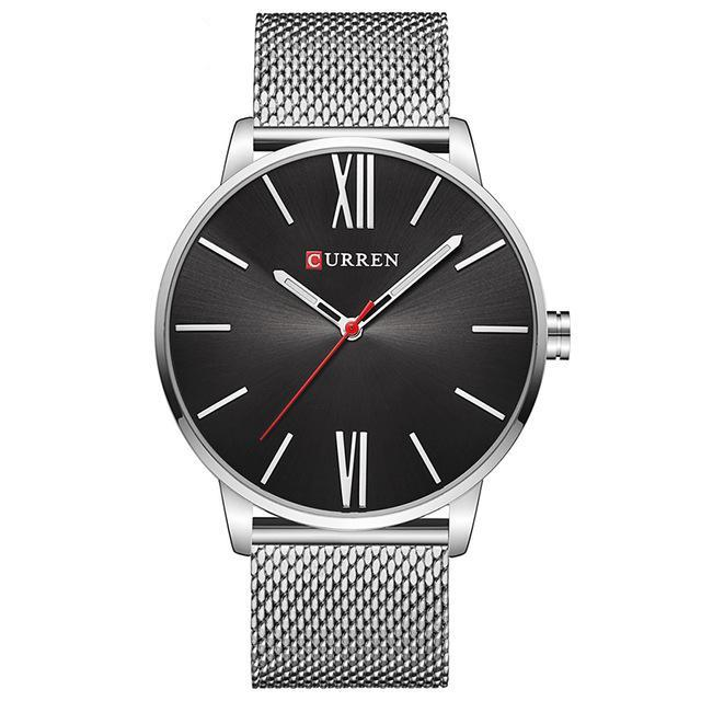 Black-Silver CURREN Watch - Luxury Watches Shop