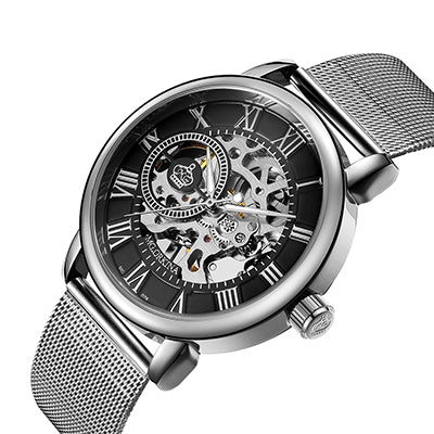 Silver-Black ORKINA Watch - Luxury Watches Shop