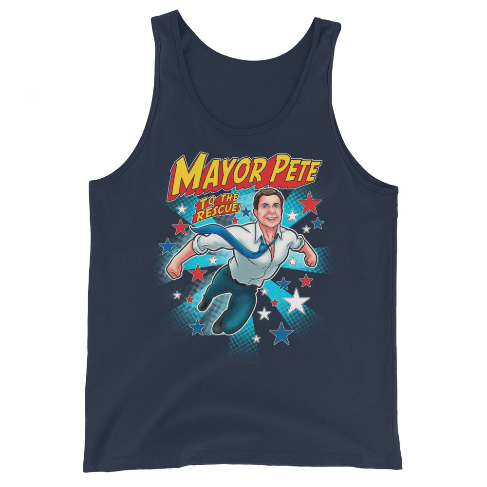 Mayor Pete to the Rescue Tank