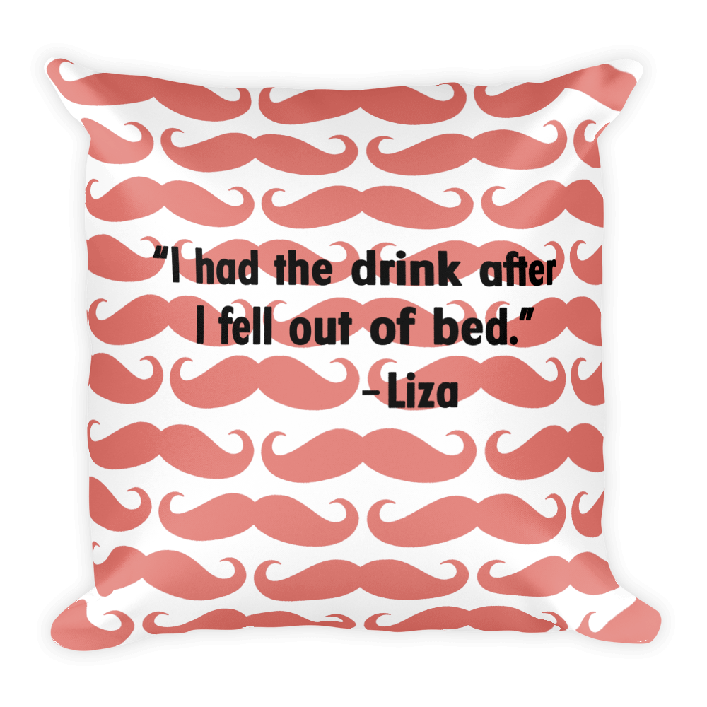 Drinking In Bed Throw Pillow