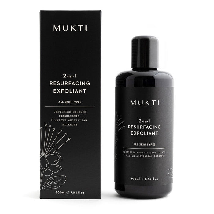 Mukti 2 in 1 Resurfacing Exfoliant