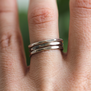 Flat Hammered Ring