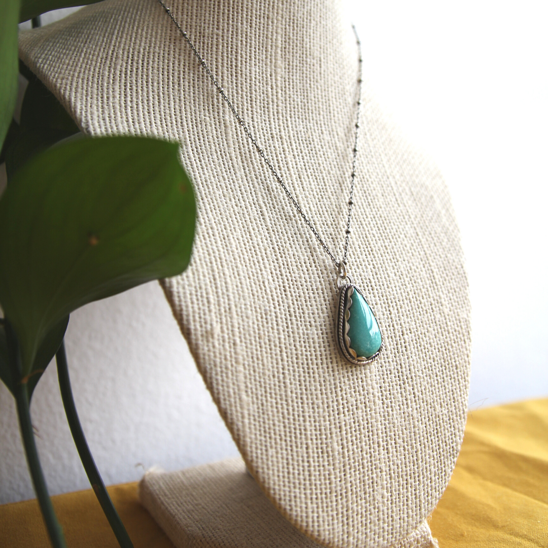 Nevada Turquoise Pendant Necklace