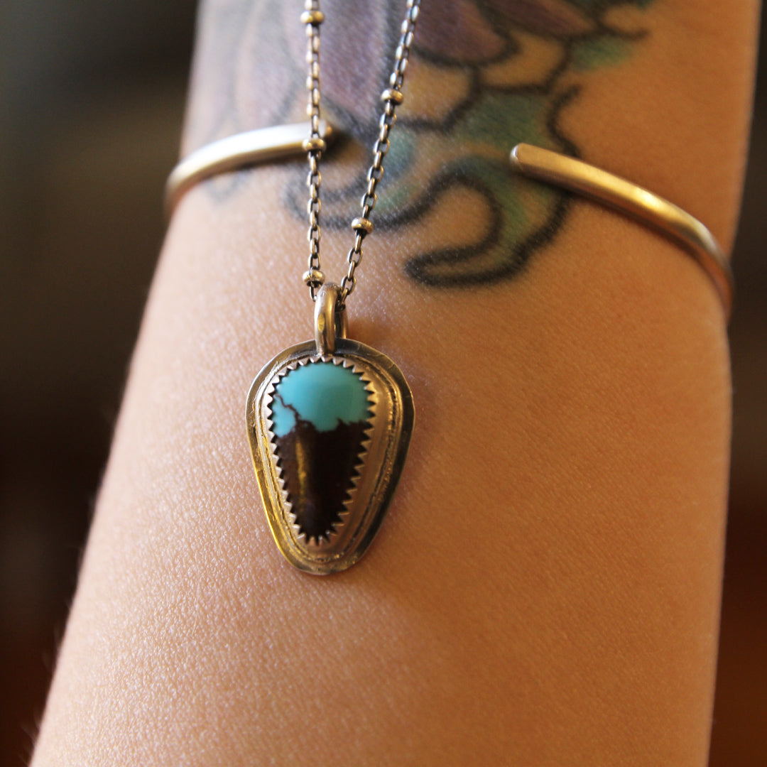 Layered Egyptian Turquoise Necklace - 18""