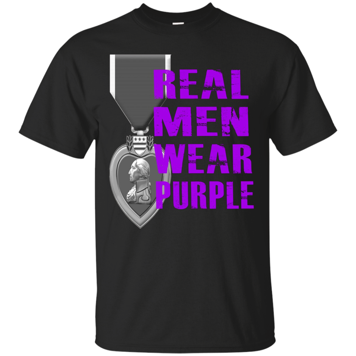 Real Men Wear Purple - Purple Heart Day August 7th shirt