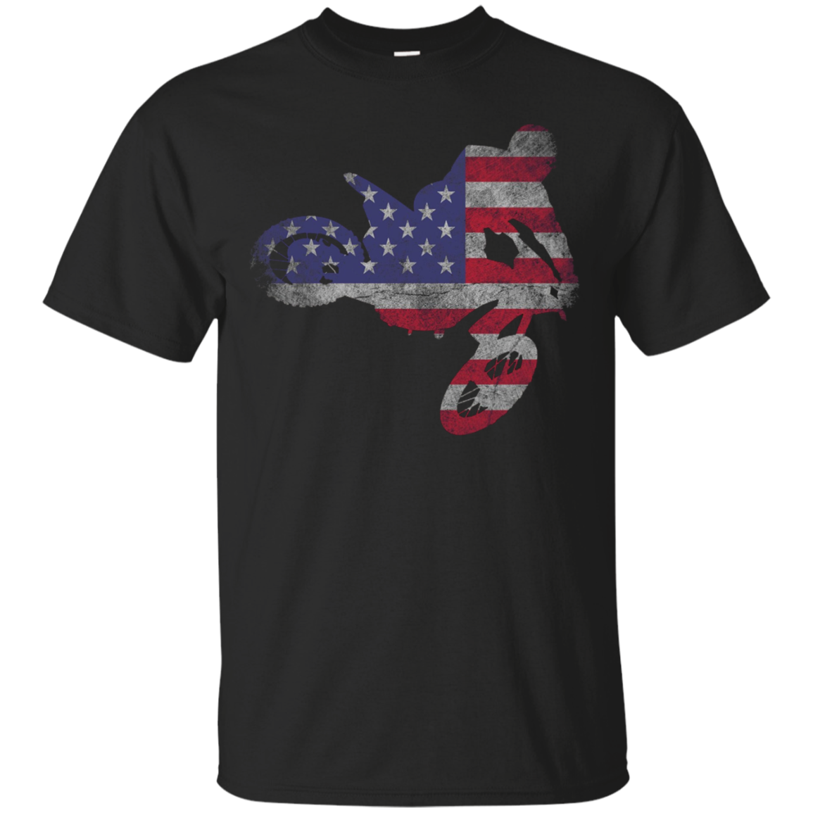 Dirt Bike American Flag T-Shirt | Motocross Enduro Shirt