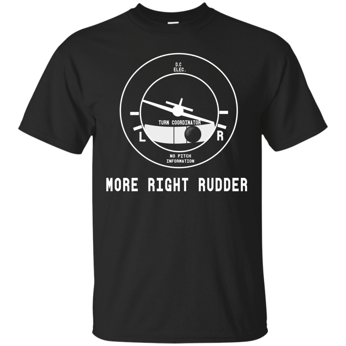 More Right Rudder CFI Flight Instructor Pilot funny T-Shirt
