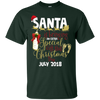 Image of Christmas Pregnancy Shirt Pregnant Santa Gift July 2018
