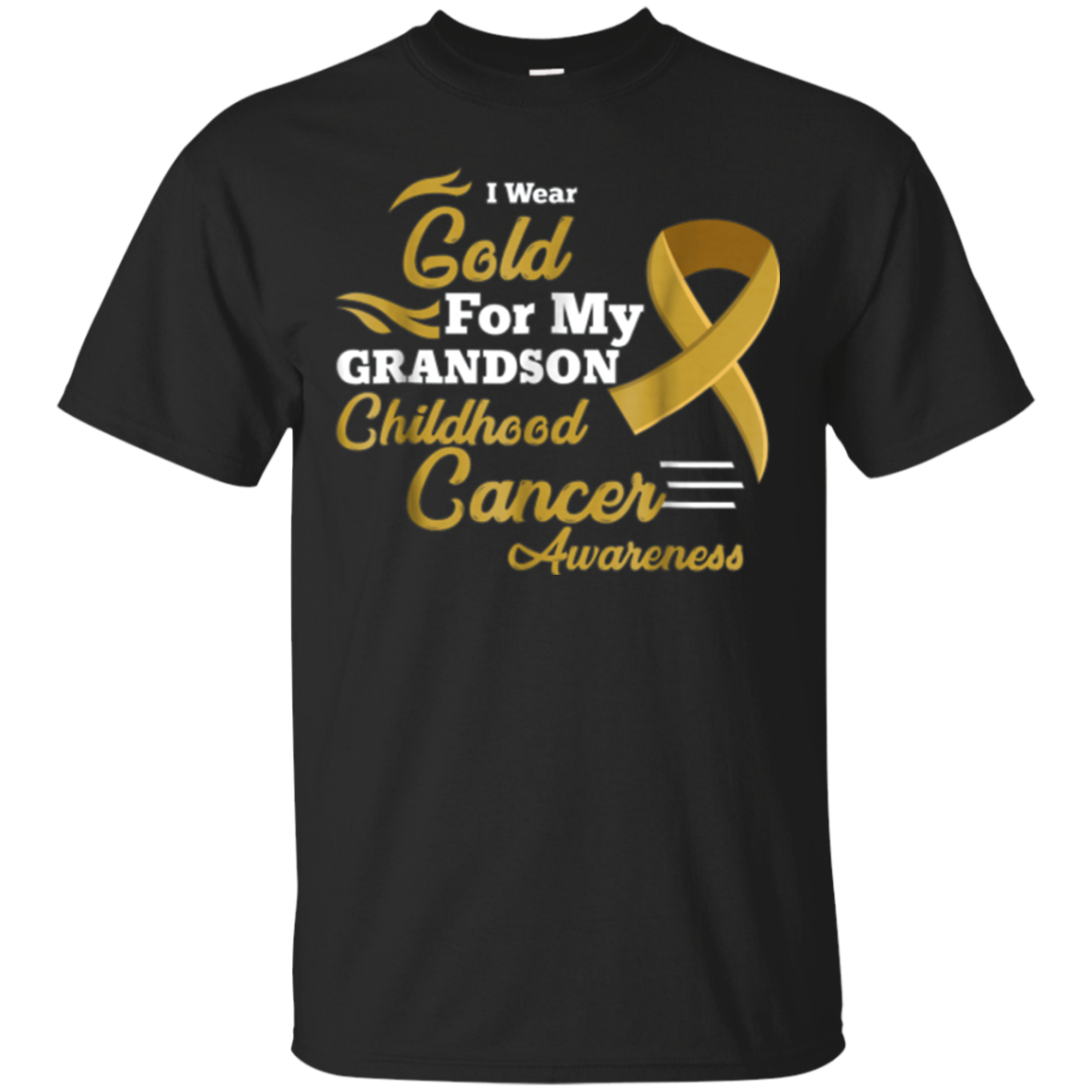 I Wear Gold for My Grandson Childhood Cancer Awareness Shirt