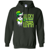 Image of Llucky Llama Funny St Patrick's Day Long Sleeve T-Shirt