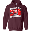 Image of Surround Yourself Assets Not Liabilities Accountant T-Shirt