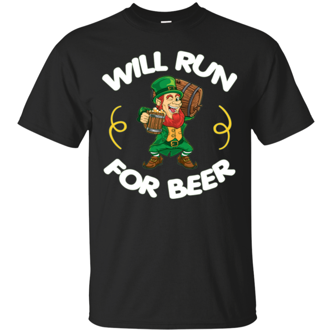 Will Run For Beer Green St. Patrick's Day Running T-Shirt