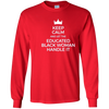 Image of Keep Calm And Let The Educated Black Woman Handle It T-shirt