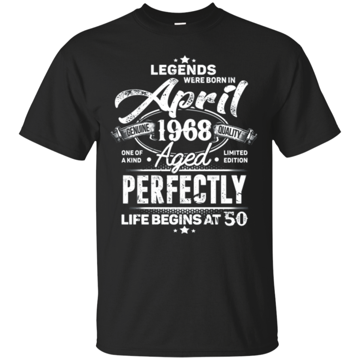 Legends Were Born In April 1968, 50th Birthday Gift Shirt