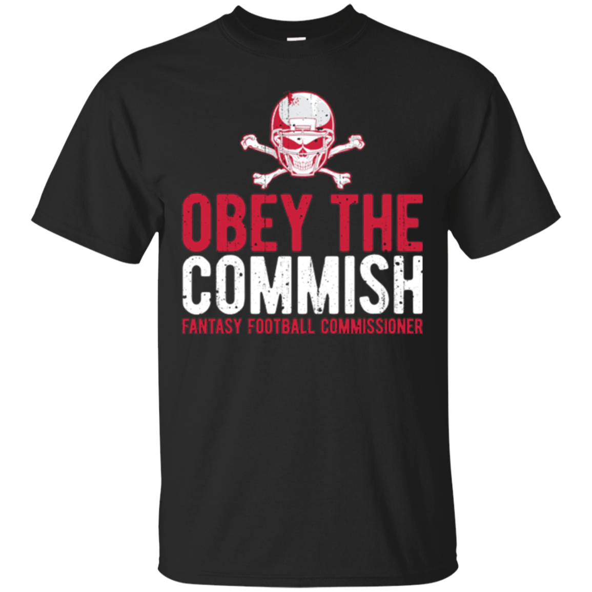 Obey Commish Funny Fantasy Football Champion Draft T Shirt