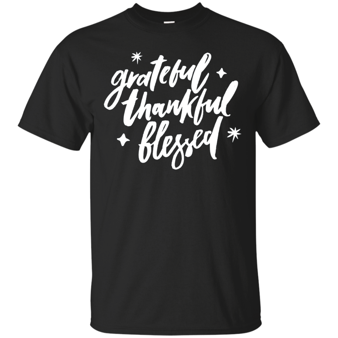 Grateful Thankful Blessed Tshirt Inspiration Tee Gratitude