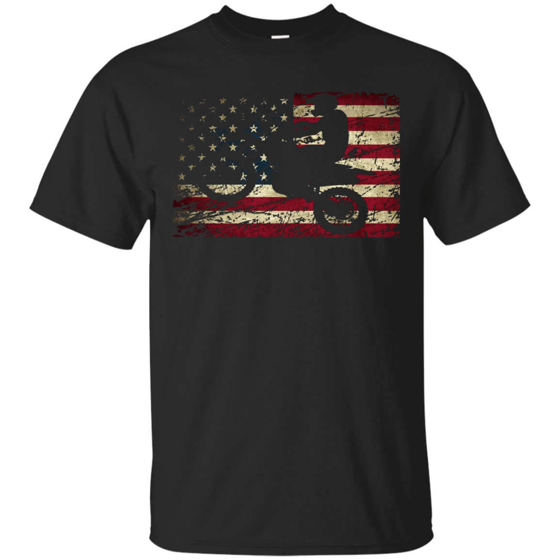 Dirt Bike USA Flag T-Shirt Motocross American Flag Shirt