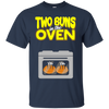 Image of Two Buns In The Oven Baby Announcement Tee Funny