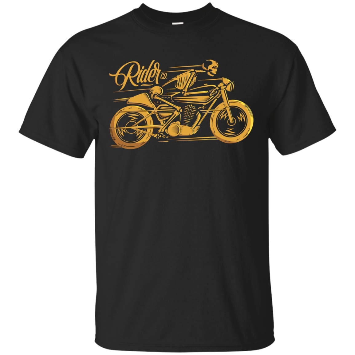 Cafe Racer Tshirt - Ghost Classic Rider - Vintage Motorcycle