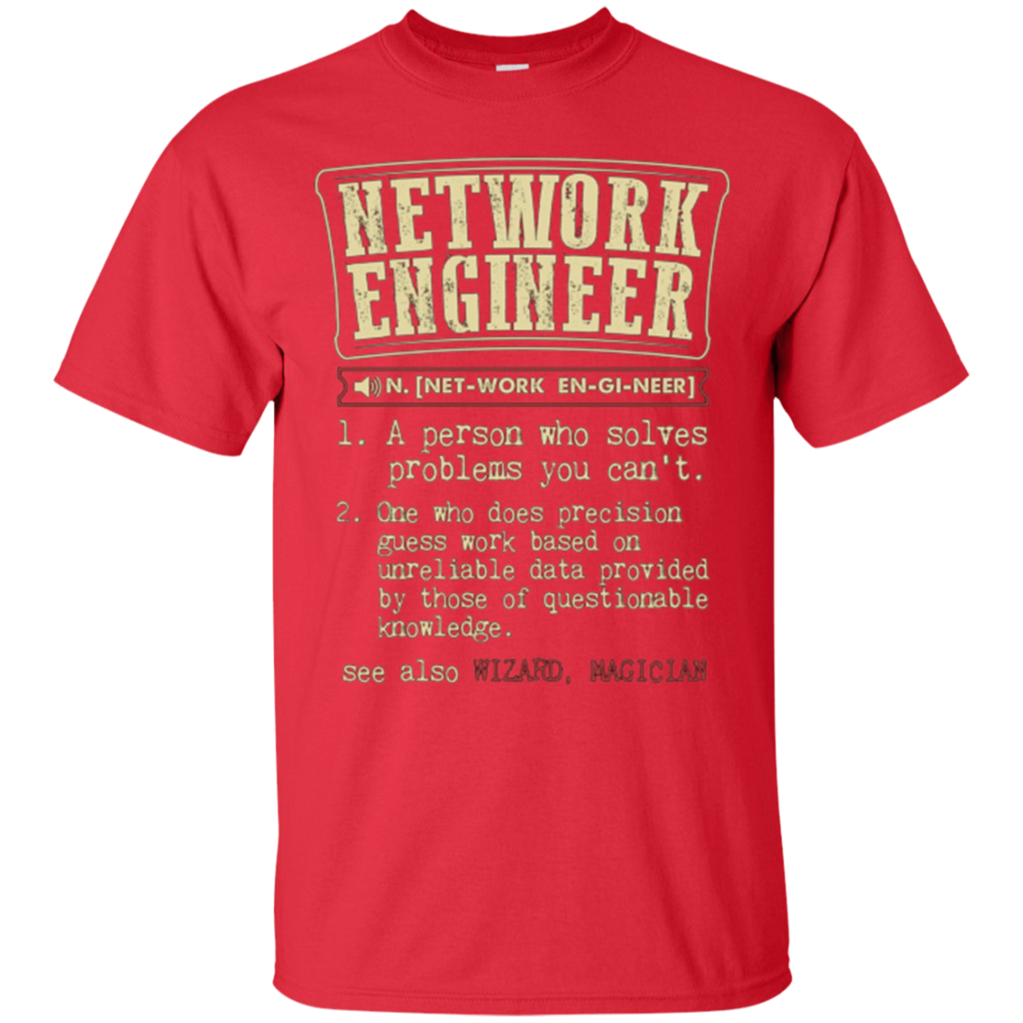 d77b995ff3 Network Engineer Funny Dictionary Definition T-Shirt – BiliTee