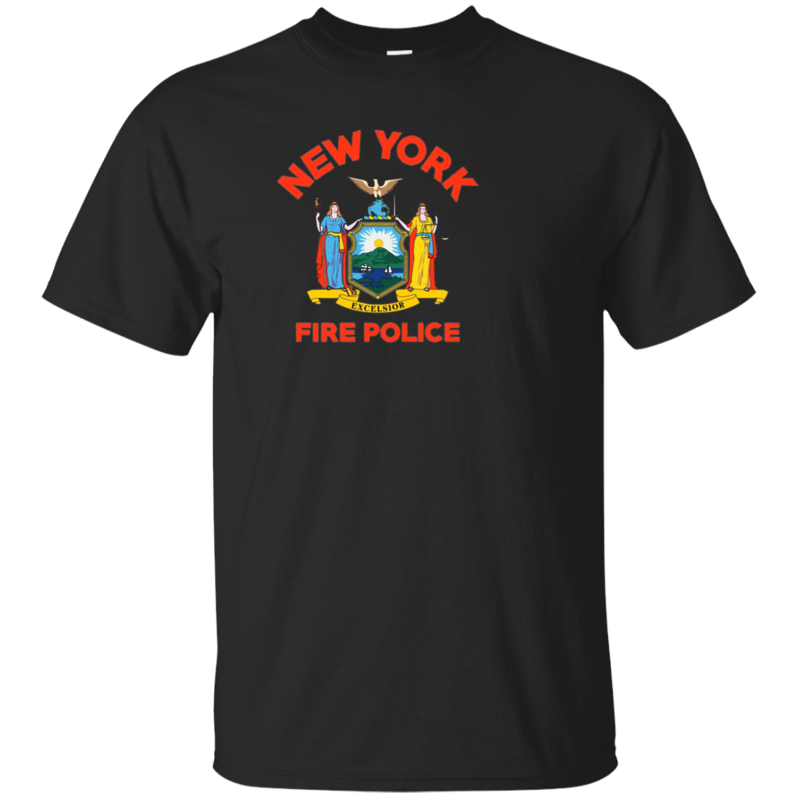 New York Fire Police Department Shirt Firefighters Firemen