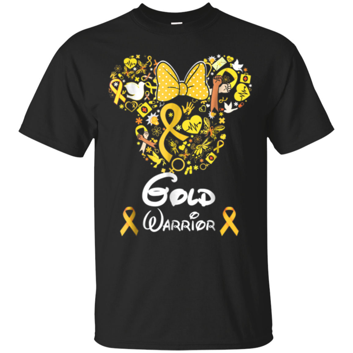 Childhood Cancer Ribbon Gold Warrior Shirt