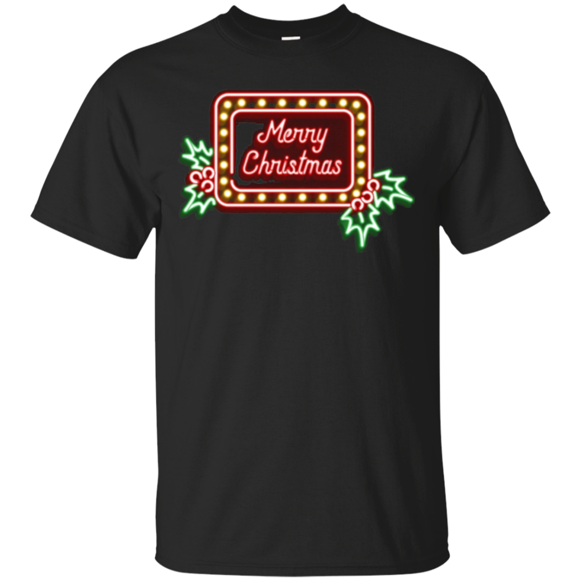 Christmas Gift Shirt for Her Him Merry Christmas Neon Sign