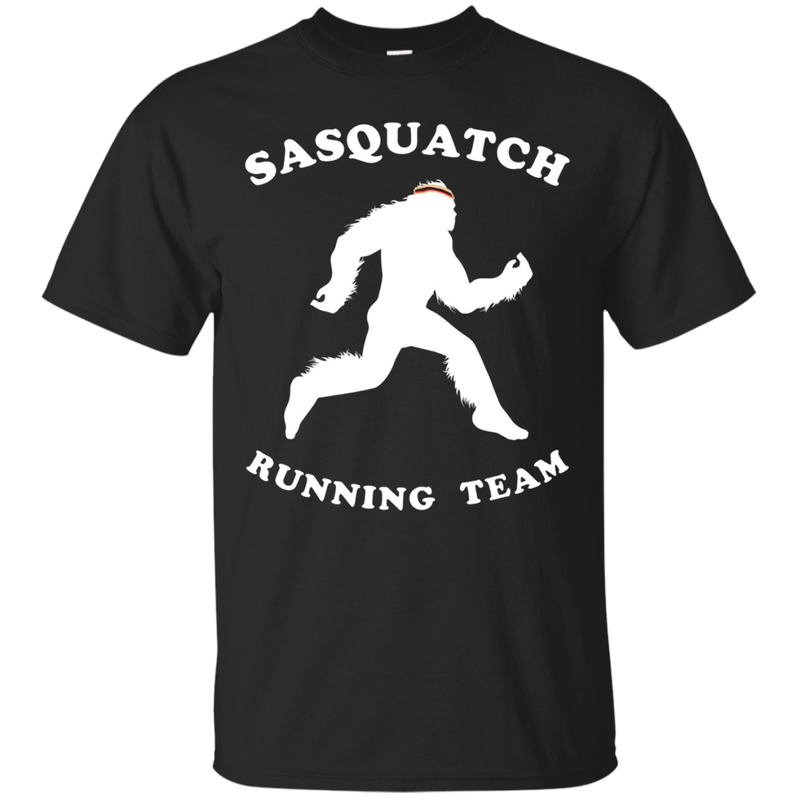 Sasquatch Running Team Shirt, Ape Man Marathon Runner Tee