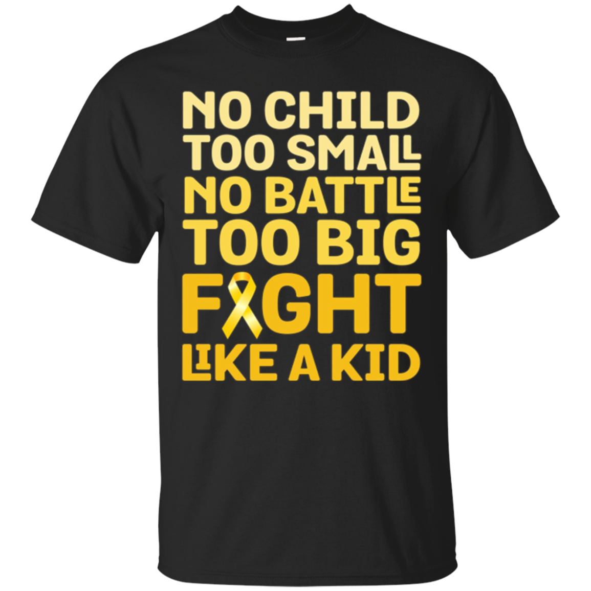 Fight Like a Kid Childhood Cancer Awareness Ribbon Tshirt