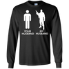 Image of Womens Your Husband vs My Husband Army Wife T-Shirt
