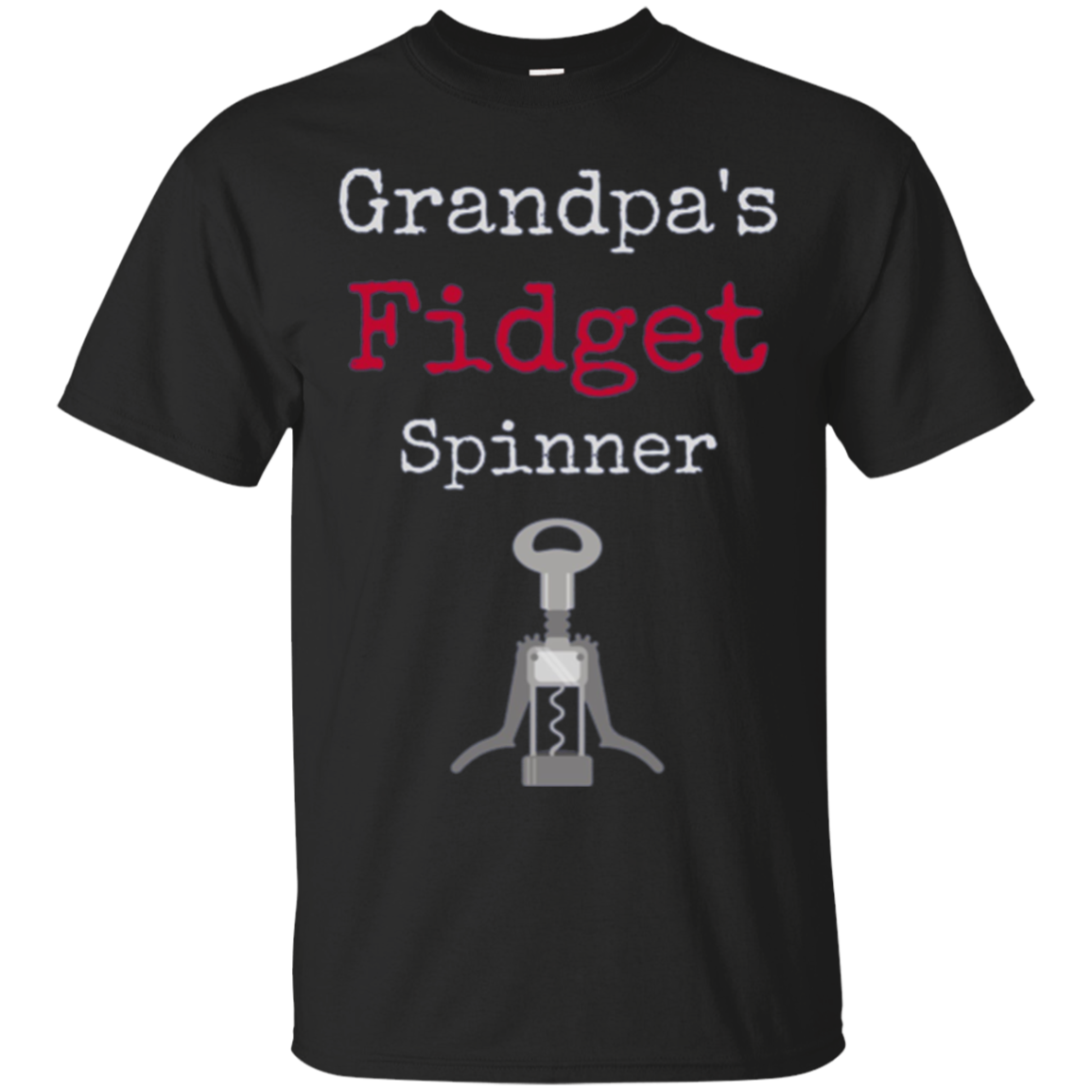 Funny Wine Long Sleeve Shirt Grandpa's Fidget Spinner
