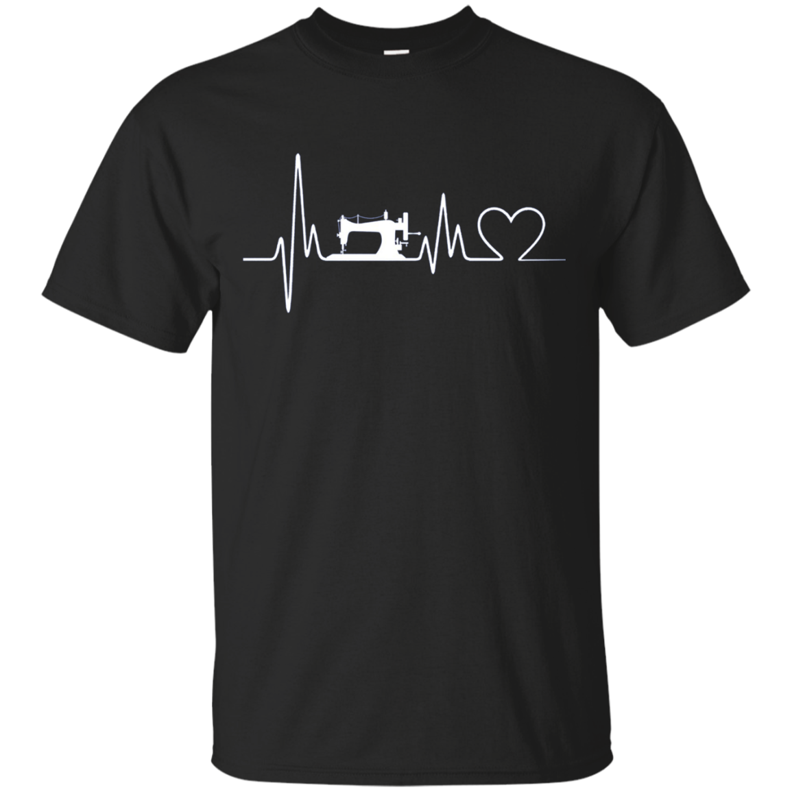 Sewing Heartbeat Long Sleeve T-Shirts