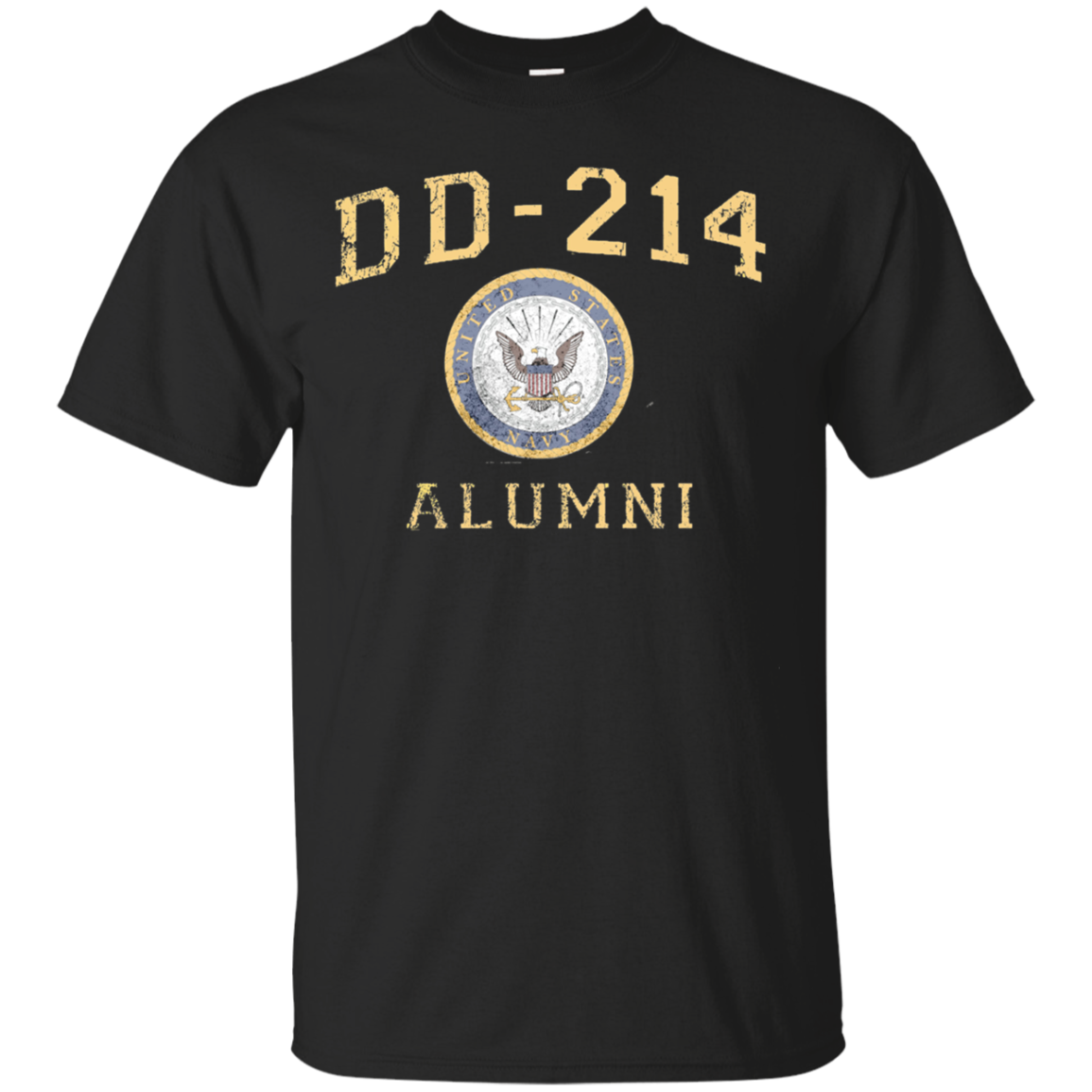 U.S Navy DD-214 Alumni T-Shirt Distressed Insignia