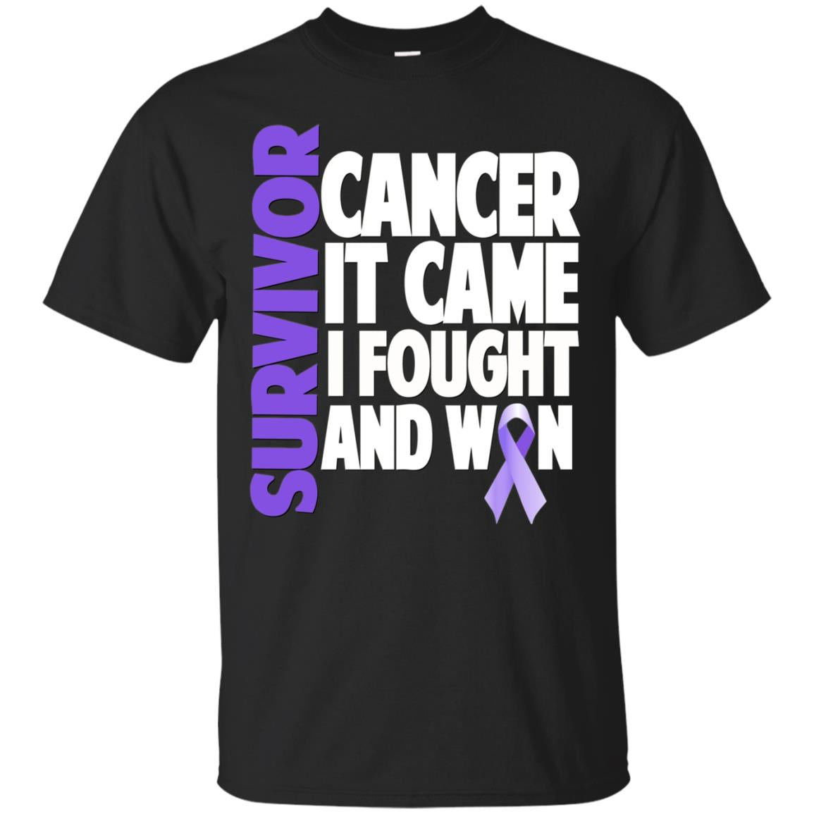 Testicular Cancer Survivor Shirt Gift Orchid Ribbon Fighter