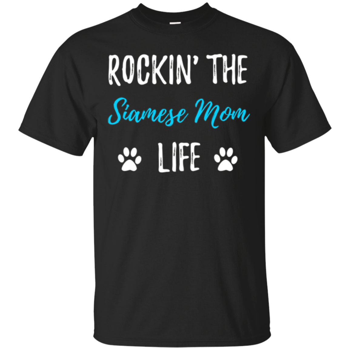 Rocking The Siamese Mom Life T-Shirt Funny Cat Lovers Gift