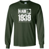 Image of Vintage 79th Birthday Gift Made In 1939 Long Sleeve T-shirt