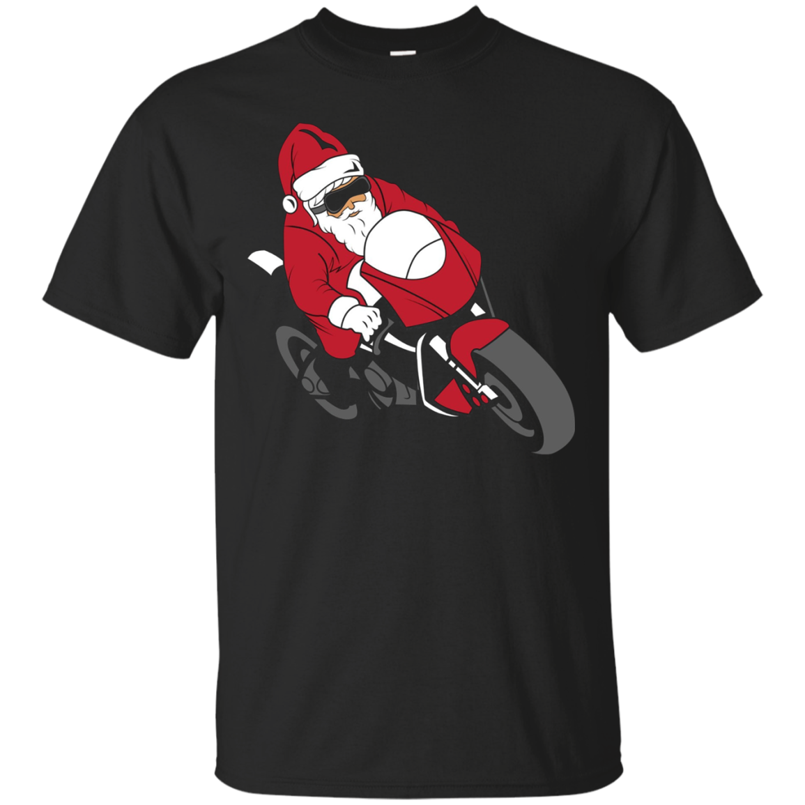 Santa Motorcycle T-Shirt | Funny Christmas Bike Shirt