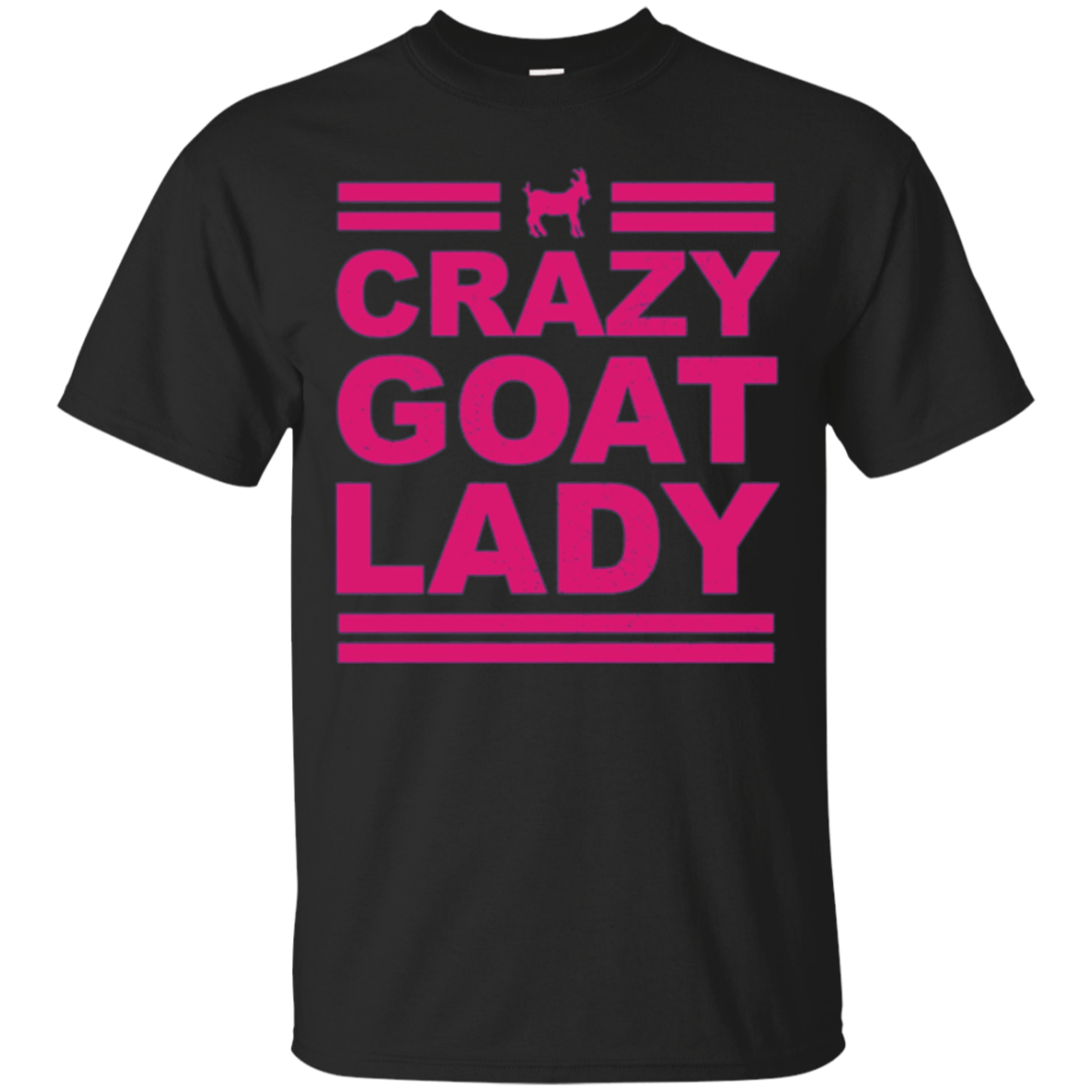 Crazy Goat Lady T-Shirt Funny Goat Long Sleeve T-Shirt Pink
