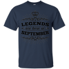 Image of Legends are Born in September King Queen Crown T-Shirt