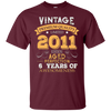 Image of Vintage Born in 2011 6th Birthday 6 Years Old Awesome Gift