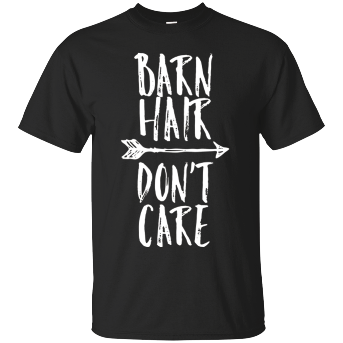 Barn Hair Don't Care Funny Farm Girl Womens Horse Shirt
