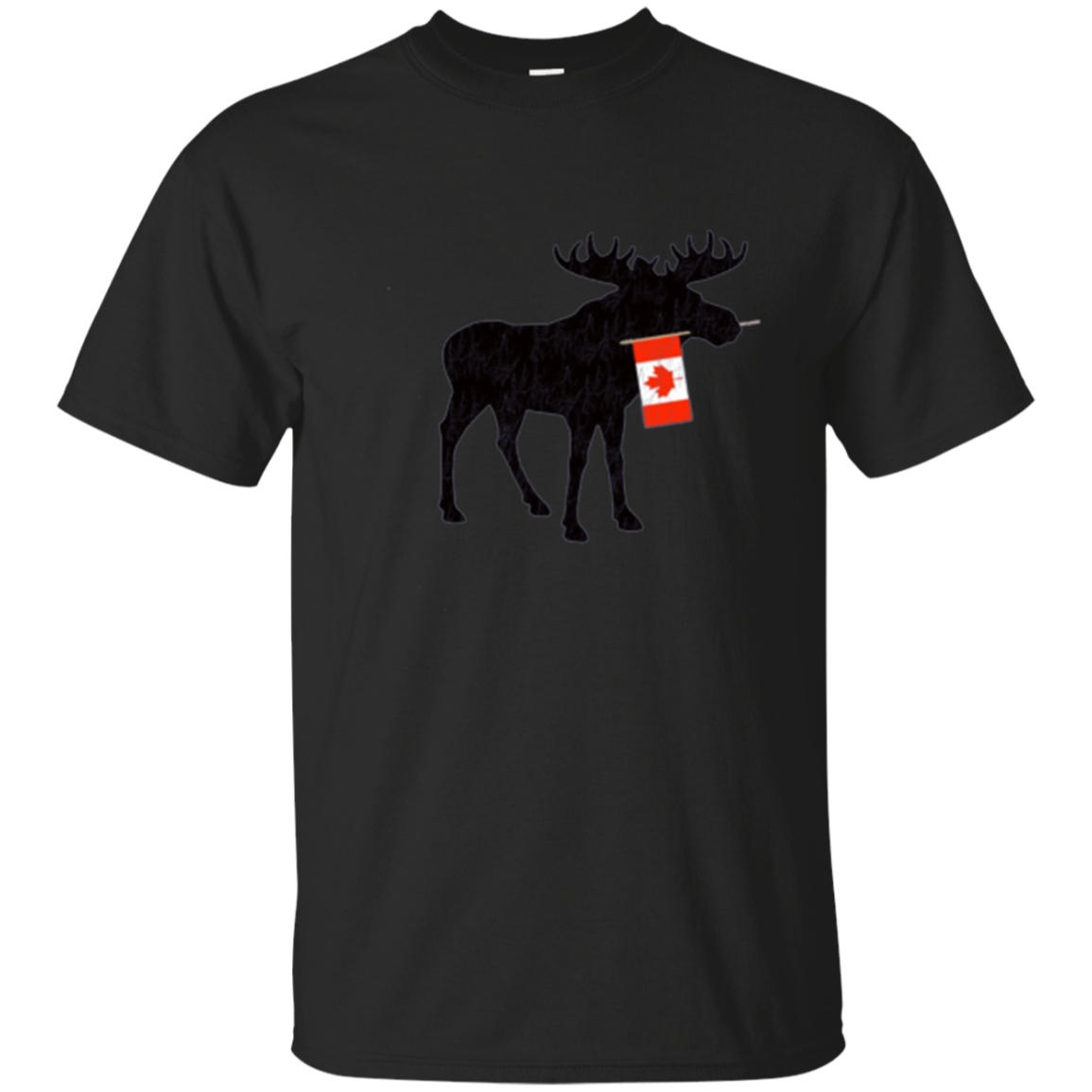 Cute Moose with Canadian Flag tshirt