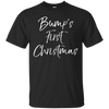 Image of Bump's First Christmas Shirt Fun Cute Christmas Pregnancy