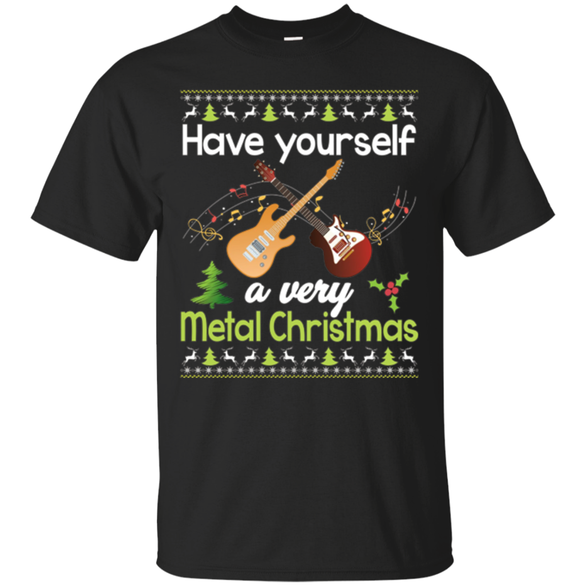 Have Yourself A Very Metal Christmas T-Shirt Heavy Rock
